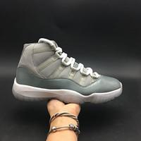 2018 Gerçek Fiber Karbon Kutusu Ile Mens 11s Serin Gri Yüksek Basketbol Ayakkabı Eğitmenler Erkekler için Sneakers Ayakkabı US8-12