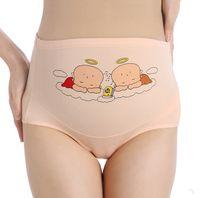 Las mujeres embarazadas ropa interior de algodón de alta cintura del tamaño grande para mujer de las bragas de maternidad ajustable de la ropa interior de las bragas