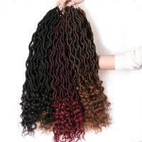 5 pack 18' ' Ombre Goddess Locs Crochet Braids Hair...