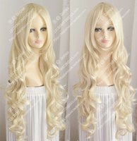 new wig Platinum Blonde long wavy curly hair Europe and the ...