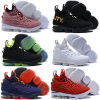 ac89082fc92 New Arrival. 2018 High Cut Newest Ashes Ghost LeBrons James 15 Basketball  Shoes Men James 15s Finals Sports training Sneakers Running ...