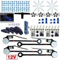 Auto universale / Auto 4 porte Electronice Power Window Kit 8pcs / Set Moon Swithitci e cablaggio di cablaggio DC12V # 3740