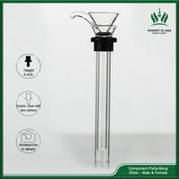 Yedek Slayt Sigara Nargile Baz Su Boruları için Düz Tüpler Cam Kase Mini Dab Rigs Downstem Aksesuarları Aracı