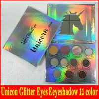 2018 завод прямые Unicon блеск глаз палитра теней для век 11 цветов макияж тени для век палитра блеск доставка