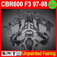 8gifts неокрашенный полный обтекатель комплект для HONDA CBR600F3 97-98 CBR 600F3 CBR600 F3 CBR 600 F3 97 98 1997 1998 1997-1998 обтекатели кузова
