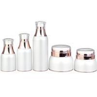 30g, 50g bianco crema acrilica vaso vuoto contenitore di imballaggio cosmetico 30ml 50ml 100 ml lozione pompa pompa airless F1207