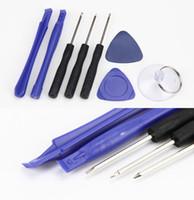 Diy 8 في 1 افتتاح حدق مجموعة مجموعات تفكيك أدوات آيفون x 8 7 6 ل سامسونج مفك أدوات إصلاح الهاتف المحمول كيت
