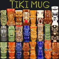 أكواب الشاي القهوة السيراميك تيكي القدح حليب القدح بار ديكور المنزل هاواي كوكتيل الزجاج والخزف تمثال الحرف اليدوية مارتيني