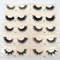 Mink Lashes 3D Vison Cils 100% sans Cruauté Lashes main réutilisables cils naturels Wispies Faux-Cils Maquillage E série vison cils