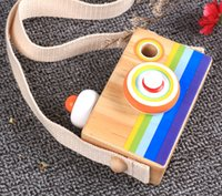 Toy Camera Cute Cartoon Baby kaleidoscope Wooden Toy Kid Chr...