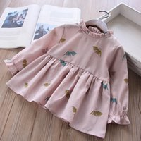 Girls Floral Print Long Sleeves Dresses Fall 2018 Kids Bouti...