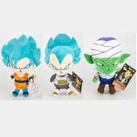 Anime Dragon Ball Plush Doll Blue Hair Goku Kakarotto Vegeta...
