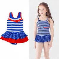 Toddler Girls Swimwear American Independence Day One- piece B...