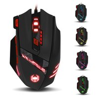 T90 9200DPI 8 Buttons LED Computer Mouse Optical USB Wired G...