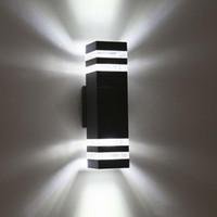 Ao ar livre À Prova D 'Água LEVOU Lâmpadas de Parede IP65 AC90-260V Com 2 pcs * 5 W Lâmpadas LED Alumínio Pátio Jardim Varanda Luzes do Corredor