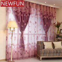 침실 Elegent 얇은 명주 그물과 어린이를위한 거실 로얄 쉬어 커튼을위한 유럽 창 커튼