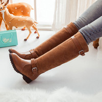 f685fc98faf0 Nuove Plus Size 34-43 Stivali Donna Primavera Autunno Lungo Stivali al  ginocchio Sapatos Femininos