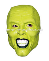 Halloween The Mask Jim Carrey Cosplay Green Mask Costume Adu...