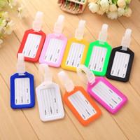Viaggi tag accessori dei bagagli bagaglio PP duro in formato carta di 9 da 5 nomi di colori tag sacchetto della carta disponibili