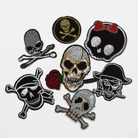 25pcs nuovo cranio / pirata ricamato applique ferro sulla patch design fai da te cucire ferro sulla toppa distintivo