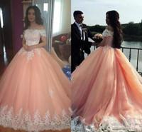 Plus la taille Appliqued Dentelle Robe De Bal Robes De Mariée 2020 de l'épaule Africain Robes De Mariée Arabie Arabe Robes De Mariée Robes de mariée