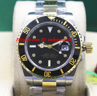 أعلى جودة فاخرة ساعة اليد النعناع رجالية الماس الأسود السيراميك 116613LN نغمتين الذهب الغوص ووتش الرجال الساعات الميكانيكية وصول جديد