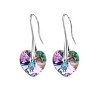 Crystal coeur Pendentif Boucles d'oreilles à l'écurie à base d'éléments Swarovski pour 2018 Day Mère Cadeau Femmes