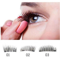 4 Lash 1 Pair Double Magnet 3D Magnetic False Eyelashes Reus...