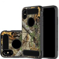 Hybrid Armor Camouflage Shockproof Case for LG Aristo 2 Sams...