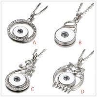 New Styles Snap Button Jewelry Rhinestone Water Drop Owl 18M...