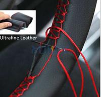 Ultrafeine Faser Leder Hand Nähen DIY Auto Lenkradabdeckung Lenkrad Abdeckungen Für Ford Focus 2 3 Kia Benz Smart Nissan