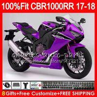 Corps d'injection + réservoir pour Honda CBR 1000 RR CBR1000RR 17 18 112HM.24 CBR 1000RR CBR-1000RR CBR1000R CBR1000 RR Purple Noir 2017 2018 Carénage