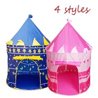 Castle 4 Colors Prince Folding Outdoor Toy Tent Kids Childre...