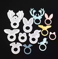 Silicone Ring Mould Animal Rings Mold Deer Rabbit Ear Unicor...