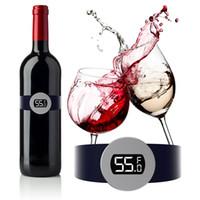Sıcak satış paslanmaz çelik şarap sıcaklık sensörü bira için kırmızı şarap bilezik termometre ev mutfak araçları