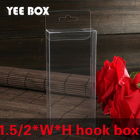 50 pcs lot 2xWxHcm packaging boxes with hook  transparent pl...