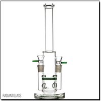 Double Joints bong with honeycomb perc dab rig oil rig smoki...