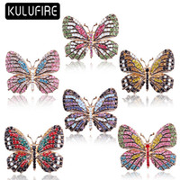 KULUFIRE Cute butterfly Brooches for women cadeau noel lapel...
