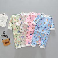 17178ae32 Nuevos llegados. Niños niñas pijamas conjunto algodón impresión niños pijama  traje ropa interior caliente ropa térmica engrosada bebé pijamas invierno  niño ...