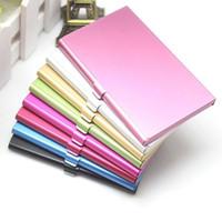 اسم الشركة حامل بطاقة الهوية الإئتمانية ملف الألومنيوم بطاقة حامل البطاقة التجارية ألومنيوم فضي اللون SN2081
