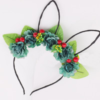 Kids Girls Daisy Flower Headband Party Wedding Fabric Flower...