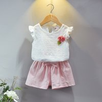 Girls Hollow Out Tops+ Bow Pants Set Summer 2018 Kids Boutiqu...