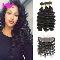 8a brazilian loose deep Hair With 13*4 lace frontal Closure ...