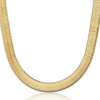 Classic Figaro 18K Yellow Gold Filled Chain For Men Snack Cu...