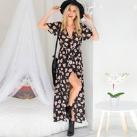 European Casual Style Women Summer Dress 2018 Ankle Length F...
