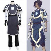 Sıcak! Avatar Son Hava Bükücü Sokka Suit Cosplay Kostüm Custom Made {D}