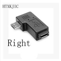 Connector 90 Degree Right & Left Angled Micro USB 2. 0 5Pin M...
