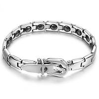 Bracciale Cura salute magnetica 316l dell'acciaio inossidabile di energia per i monili di modo degli uomini Bracciali qualità di fascino di alta OB 977