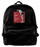 I' d rather be golfing golf Canvas Shoulder Backpack Cut...