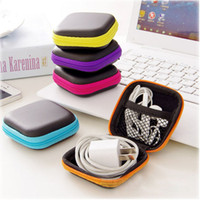 Hot Mini Zipper Hard Headphone Case PU Leather Earphone Stor...